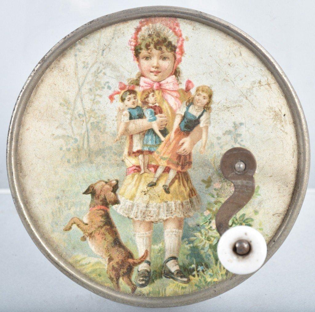 EARLY SWISS CHILD'S MUSIC BOX
