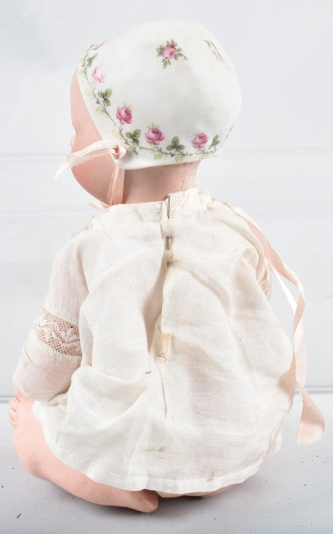 BISQUE SLEEP EYE DOLL with BISQUE BONNET - 3