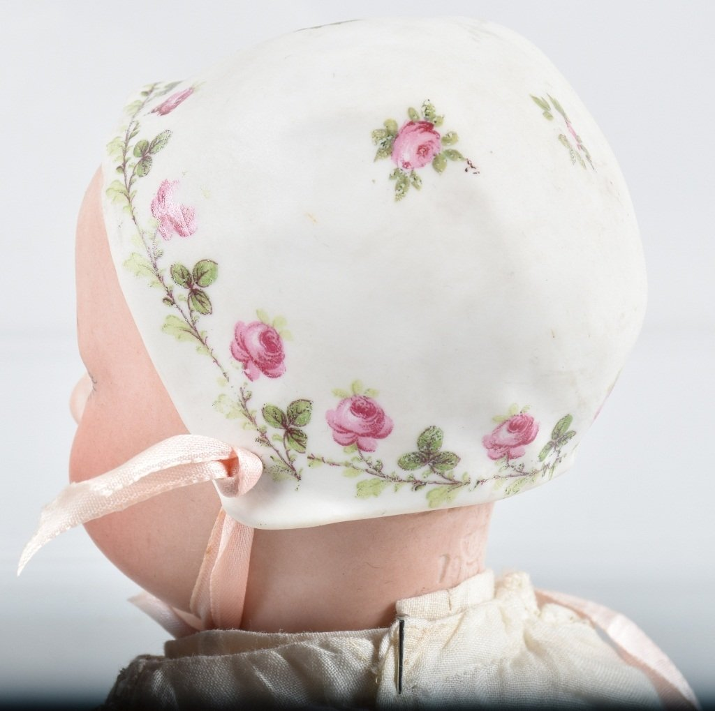 BISQUE SLEEP EYE DOLL with BISQUE BONNET - 4