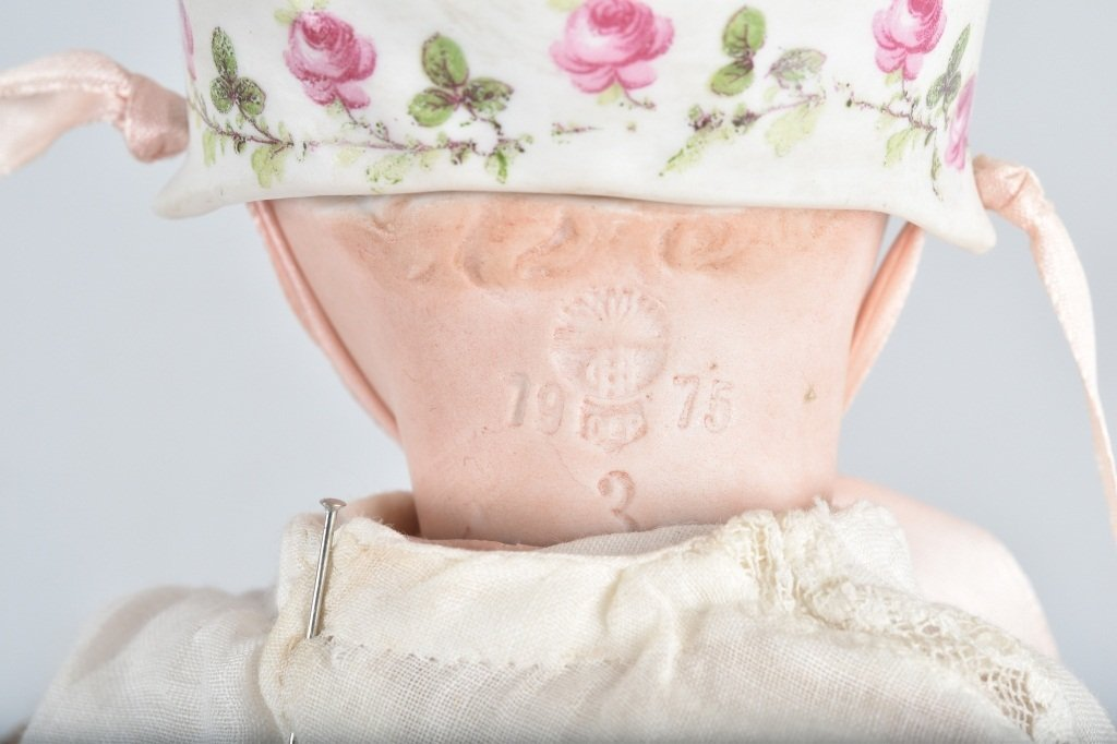 BISQUE SLEEP EYE DOLL with BISQUE BONNET - 7