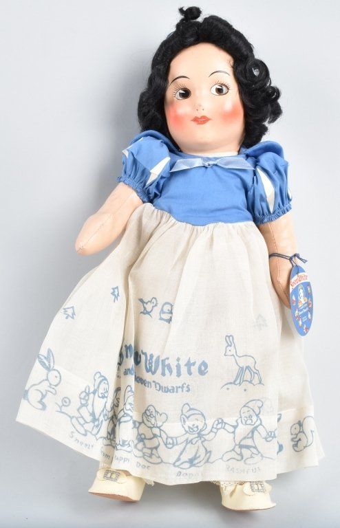 IDEAL 1937 SNOW WHITE DOLL with HANG TAG