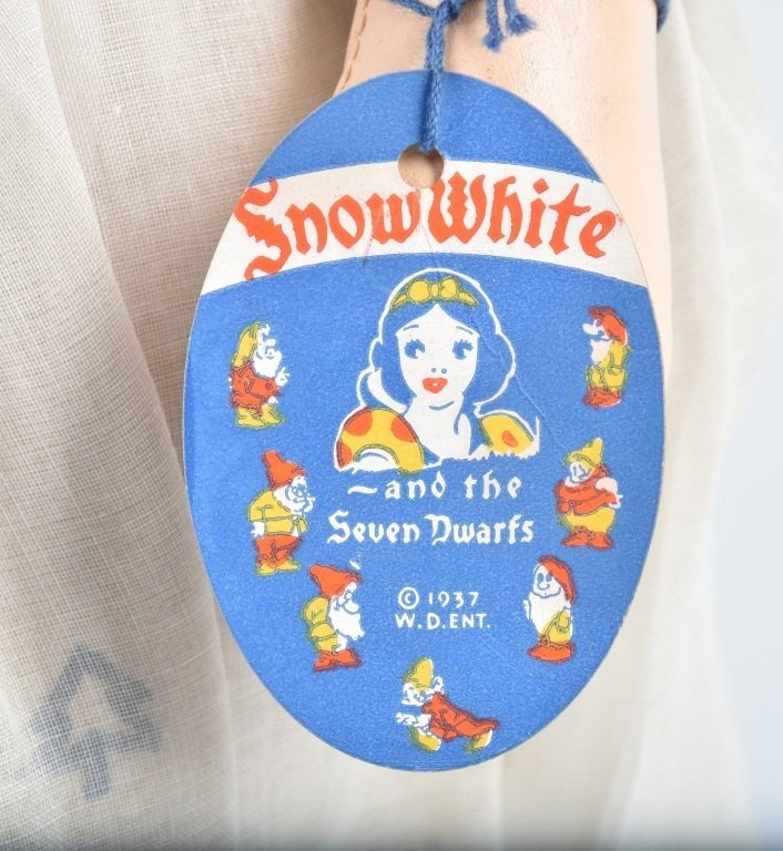 IDEAL 1937 SNOW WHITE DOLL with HANG TAG - 4