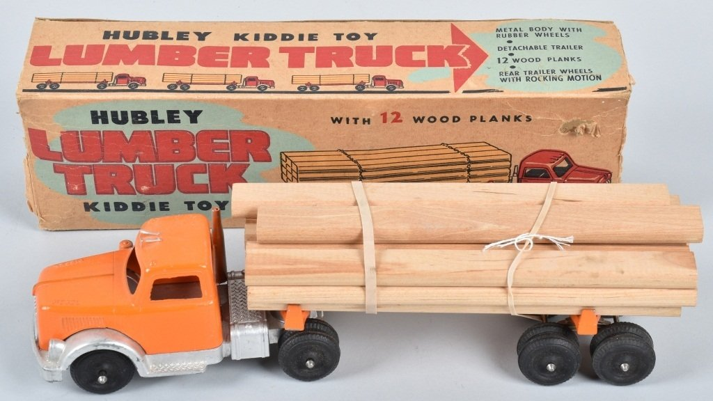 1950's HUBLEY DIECAST LUMBER TRUCK with BOX