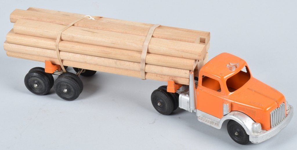1950's HUBLEY DIECAST LUMBER TRUCK with BOX - 2