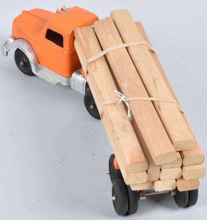 1950's HUBLEY DIECAST LUMBER TRUCK with BOX - 3
