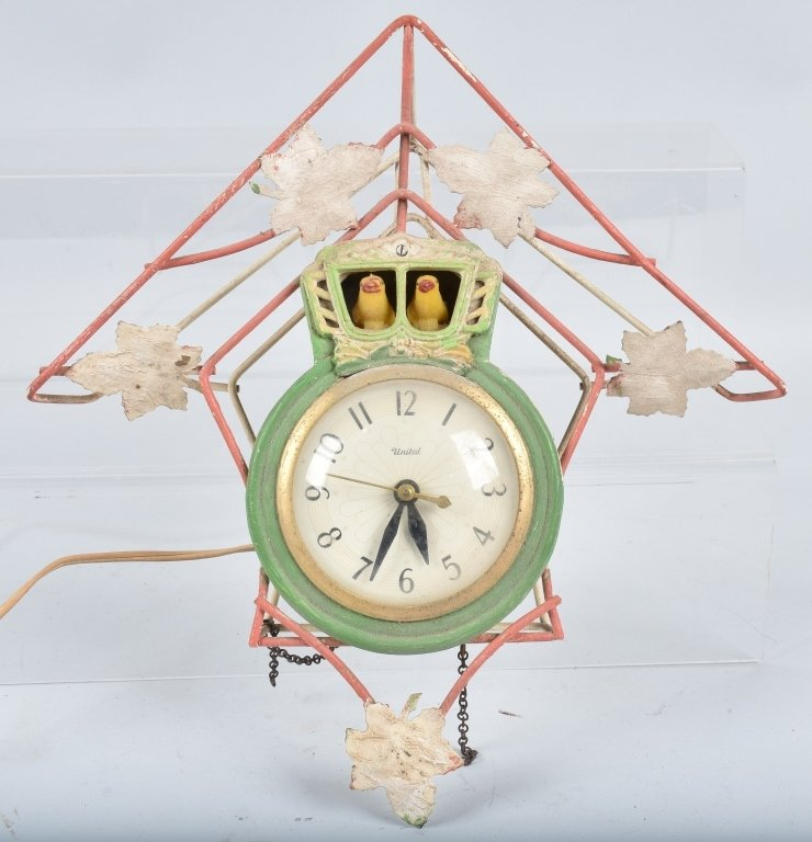 3- ANIMATED ELECTRIC CLOCKS, VINTAGE - 5