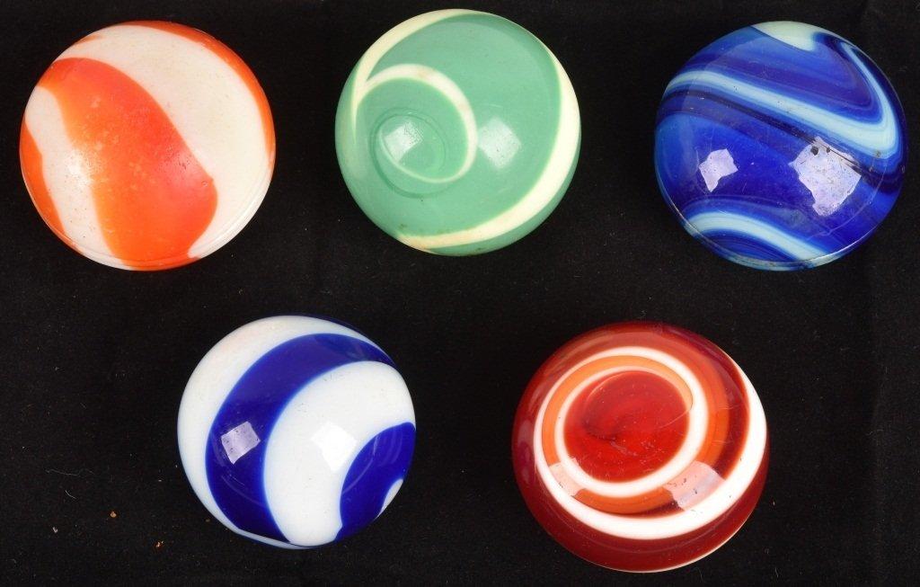 5-GLASS SWIRL GEAR SHIFT KNOBS, VINTAGE