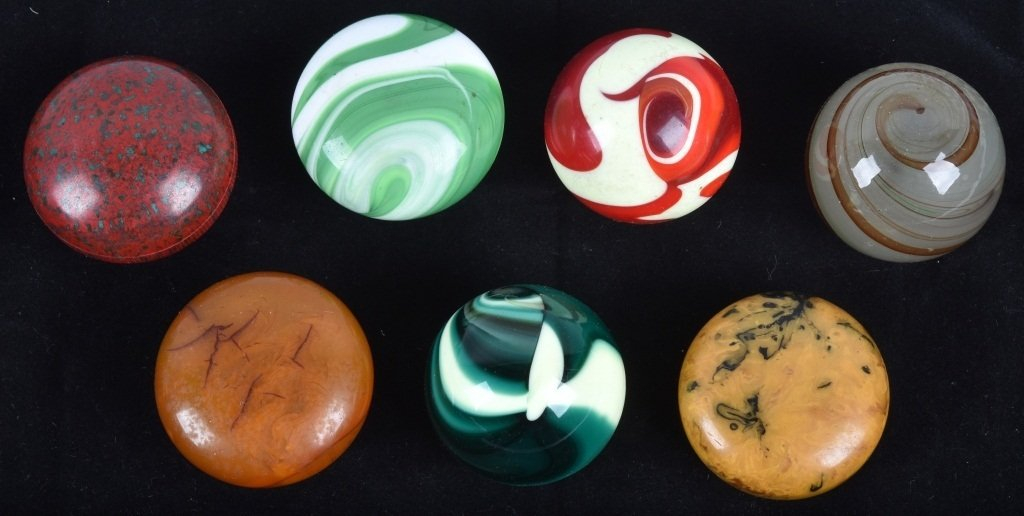 7- GEAR SHIFT KNOBS, GLASS SWIRL and MORE, VINTAGE
