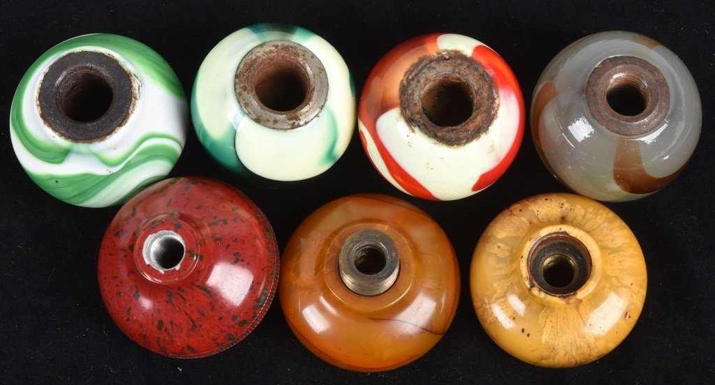 7- GEAR SHIFT KNOBS, GLASS SWIRL and MORE, VINTAGE - 4