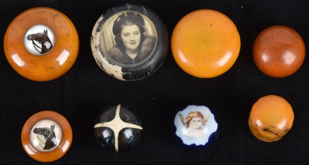 8- GEAR SHIFT KNOBS, BAKELITE and MORE, VINTAGE