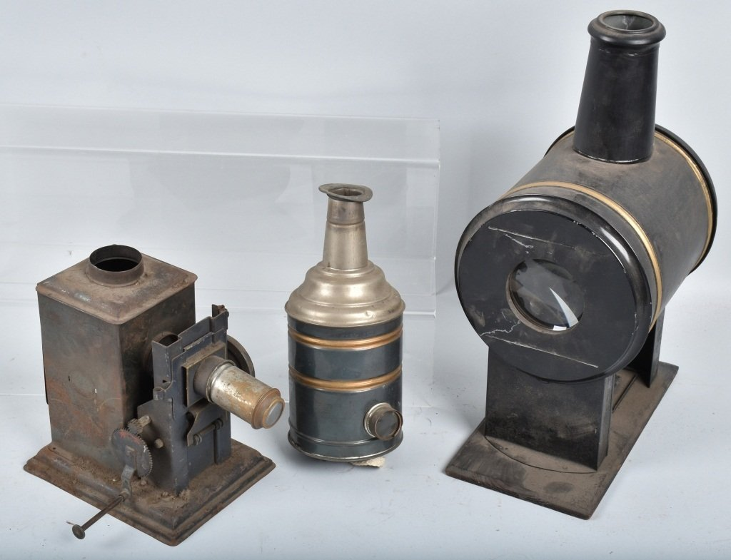 LOT of EARLY GERMAN TIN PROJECTORS and MORE - 3