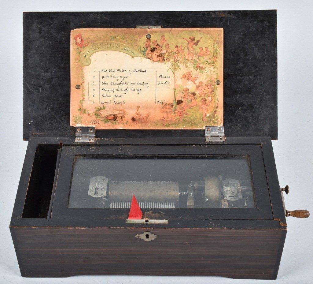 PAT 1888, SWISS CYLINDER MUSIC BOX