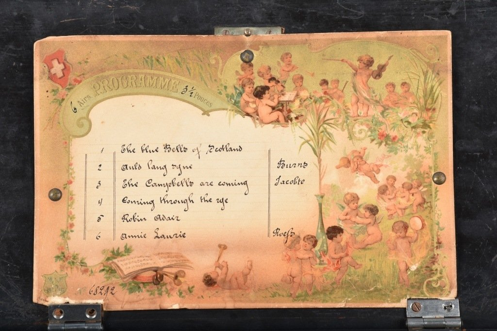 PAT 1888, SWISS CYLINDER MUSIC BOX - 2
