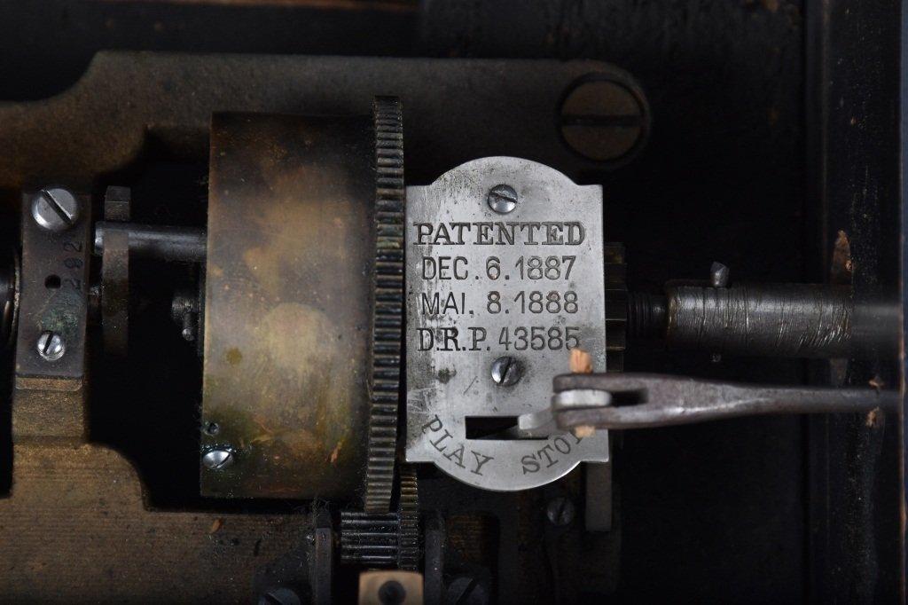 PAT 1888, SWISS CYLINDER MUSIC BOX - 4