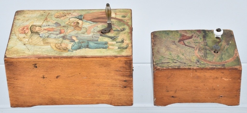 2-VICTORIAN CHILDS MUSIC BOXES