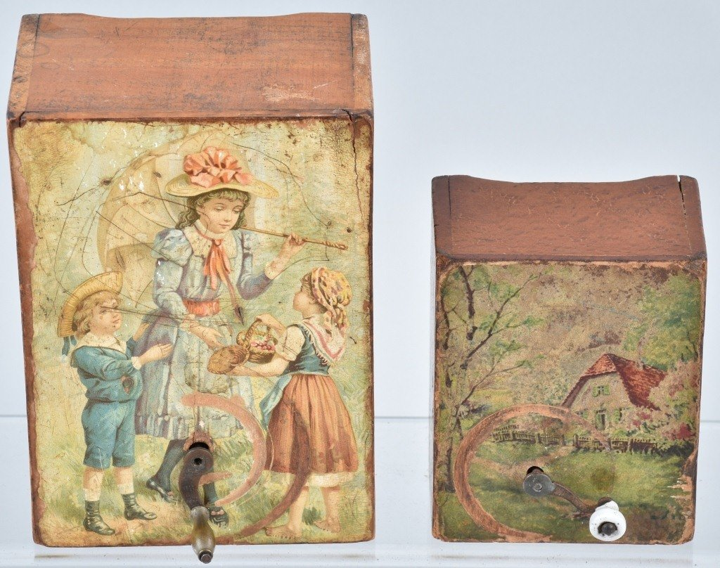 2-VICTORIAN CHILDS MUSIC BOXES - 2