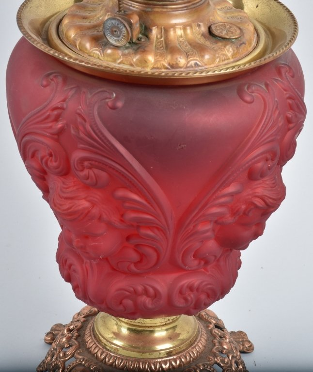 ROYAL PAT. 1895 RUBY GONE with the WIND OIL LAMP - 3