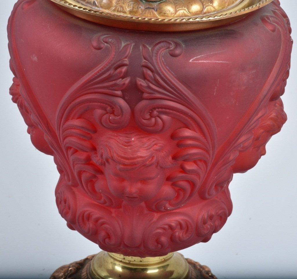 ROYAL PAT. 1895 RUBY GONE with the WIND OIL LAMP - 4