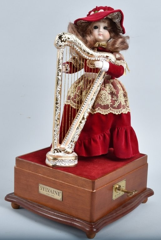 SYLVAINE BISQUE AUTOMATON with HARP - 2