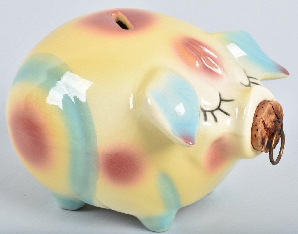 2-HULL CORKY PIG BANKS, 1957 - 2