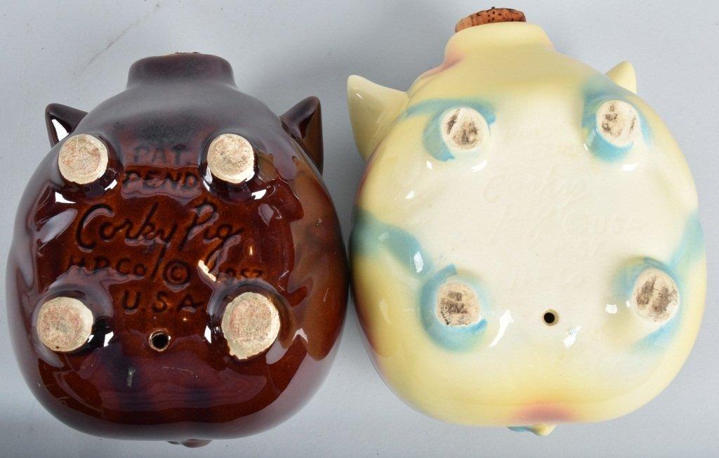 2-HULL CORKY PIG BANKS, 1957 - 6