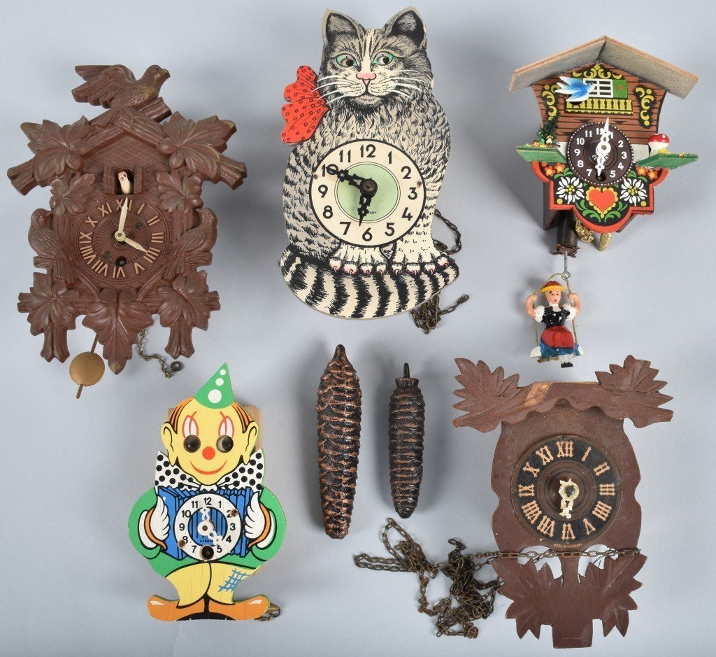 5-ANIMATED CLOCKS, CAT, CLOWN and MORE