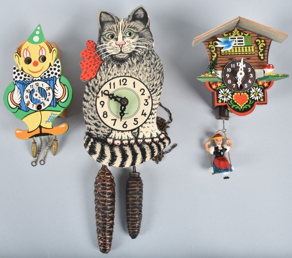 5-ANIMATED CLOCKS, CAT, CLOWN and MORE - 2