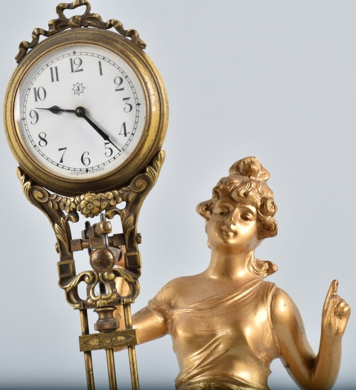 JUNGHANS GERMANY SWINGER FIGURAL CLOCK - 2