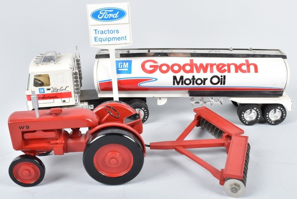 NYLINT GM MR. GOODWRENCH TANKER, & WOOD TRACTOR