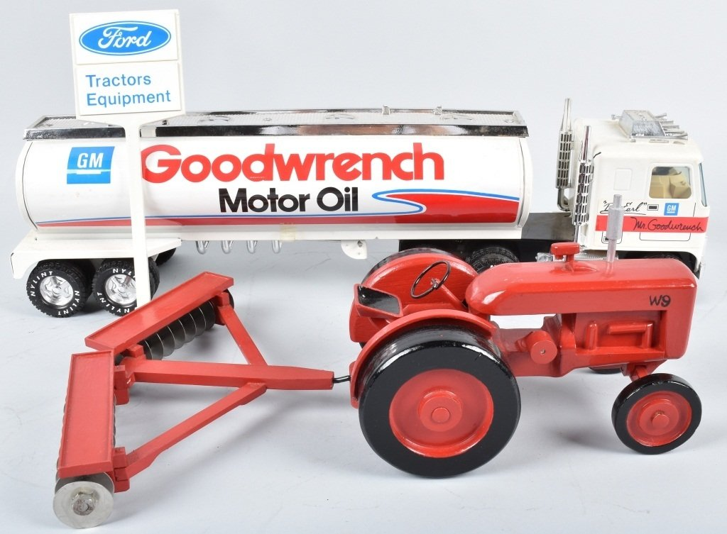 NYLINT GM MR. GOODWRENCH TANKER, & WOOD TRACTOR - 2