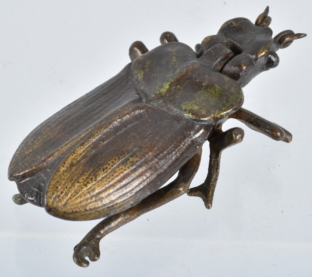 Early CAST IRON BEETLE BUG MATCH SAFE - 2