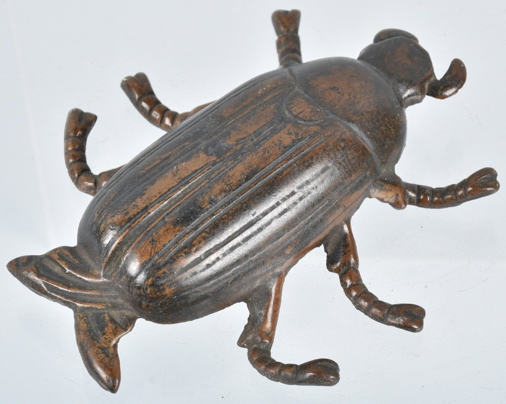 Early CAST BRASS BEETLE BUG PAPER WEIGHT - 2