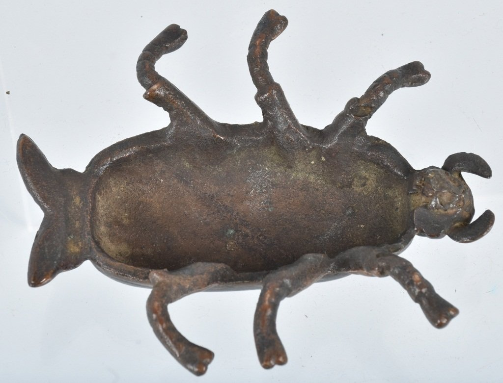 Early CAST BRASS BEETLE BUG PAPER WEIGHT - 3