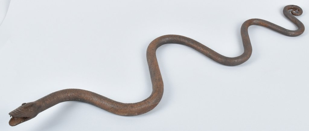 EARLY FOLK ART IRON SNAKE