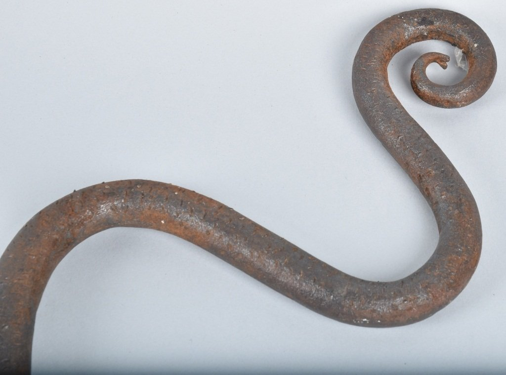 EARLY FOLK ART IRON SNAKE - 3