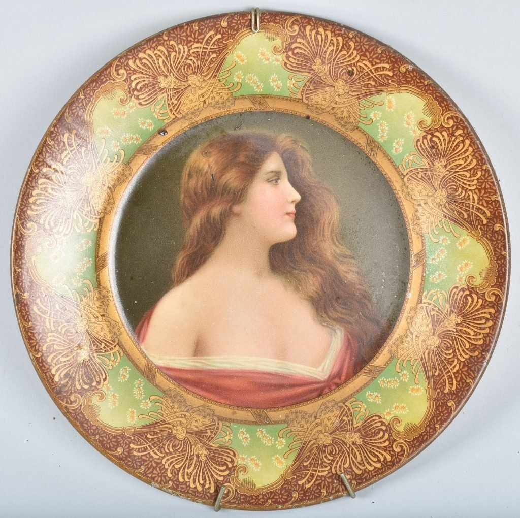 1900s ROYAL SAXONY TIN ART PLATE