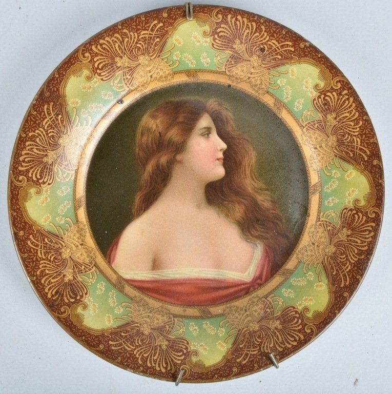 1900s ROYAL SAXONY TIN ART PLATE - 2