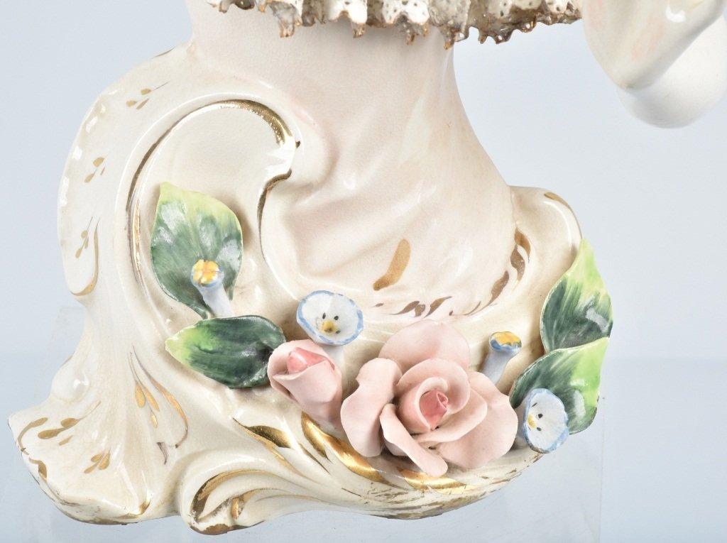 """15"""" DRESDEN HALF LADY w/ LACE & FLOWERS - 4"""