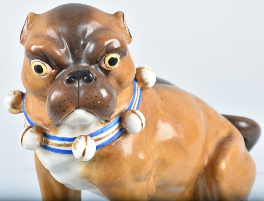 GERMAN 19TH CENTURY  PORCELAIN PUG DOG - 4