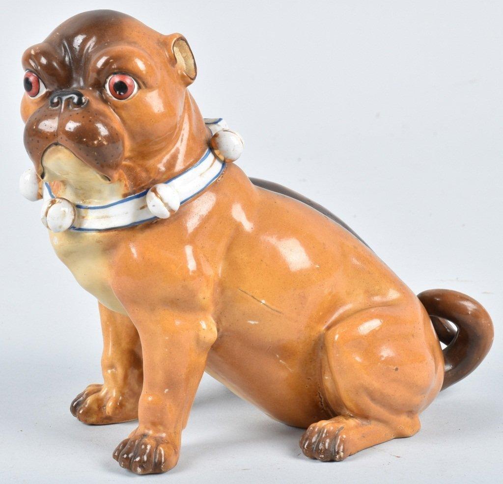 GERMAN 19TH CENTURY  PORCELAIN PUG DOG