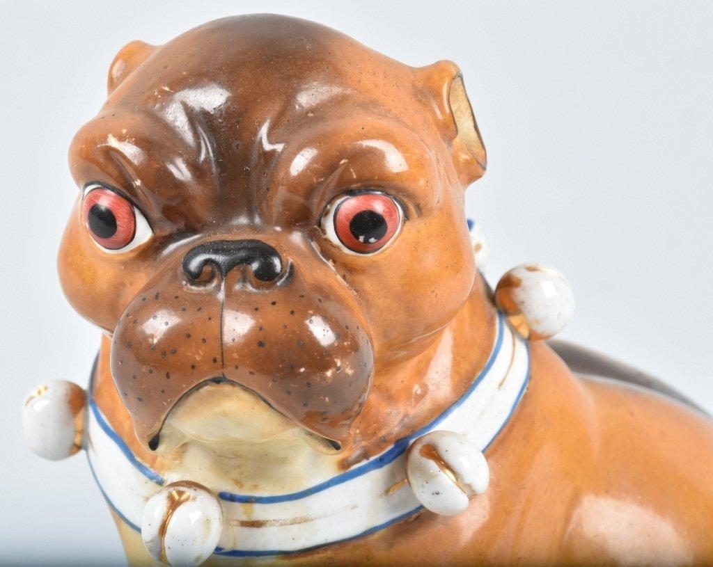 GERMAN 19TH CENTURY  PORCELAIN PUG DOG - 5
