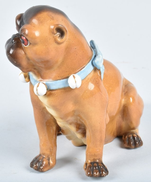 GERMAN 19TH CENTURY  PORCELAIN PUG DOG - 2