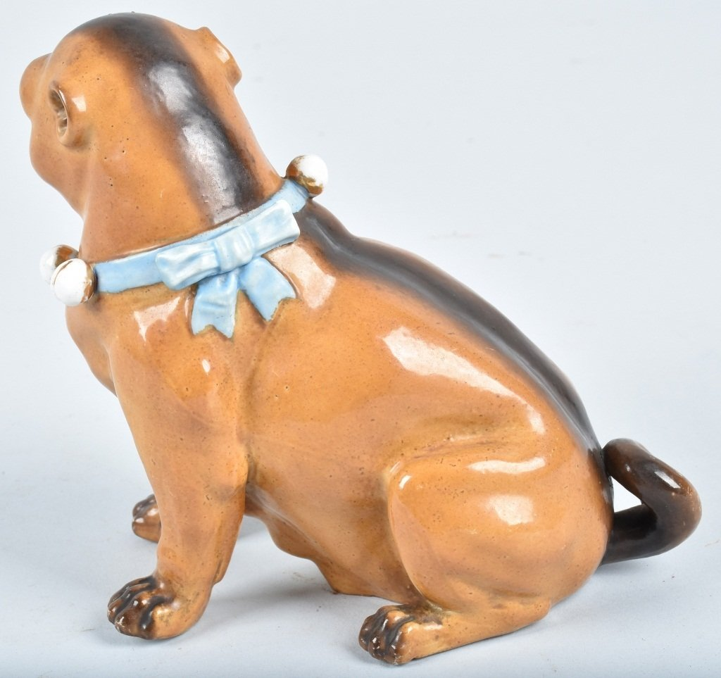 GERMAN 19TH CENTURY  PORCELAIN PUG DOG - 3