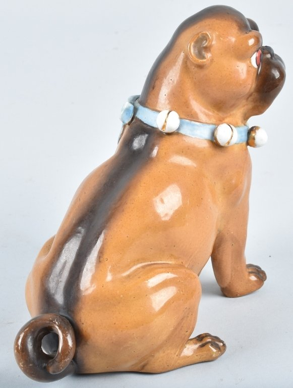 GERMAN 19TH CENTURY  PORCELAIN PUG DOG - 4