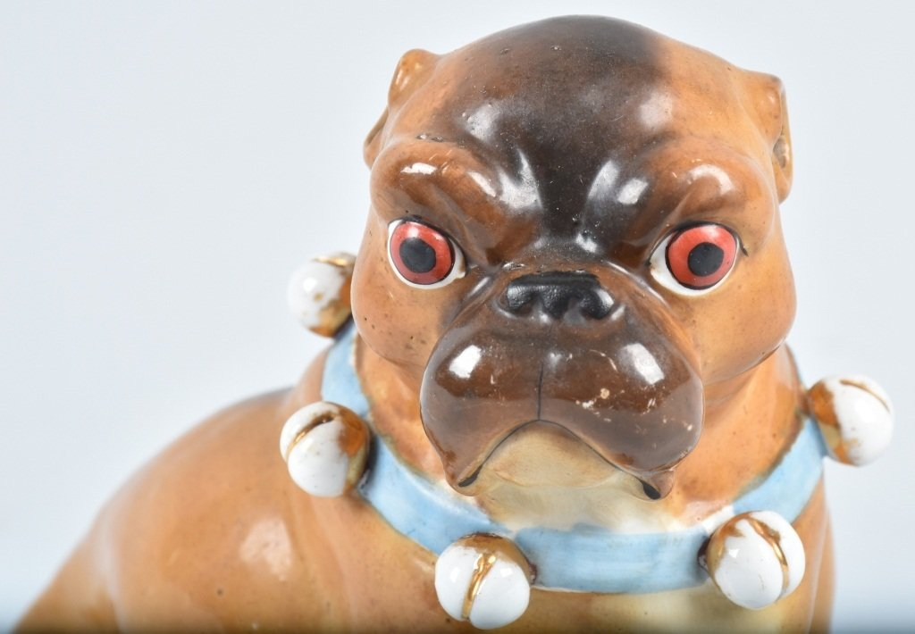GERMAN 19TH CENTURY  PORCELAIN PUG DOG - 5