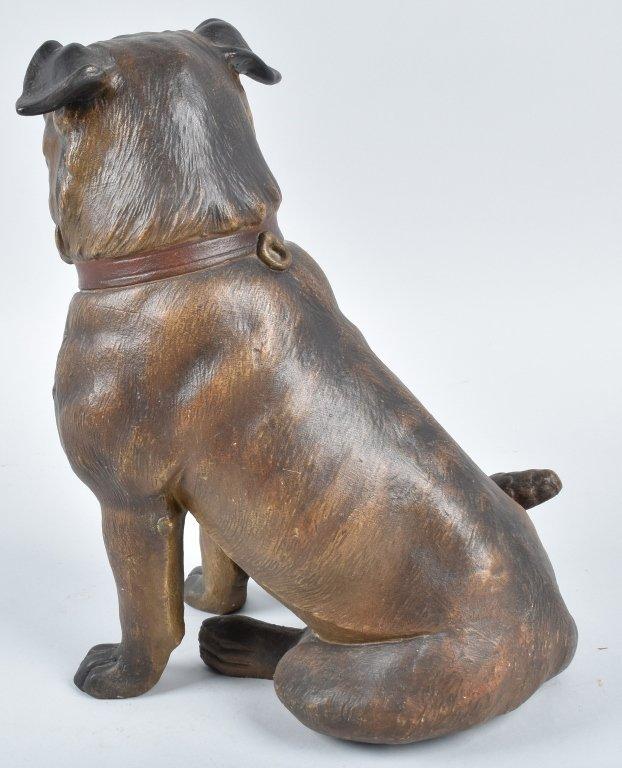 LARGE TERRA COTTA SCULPTURE, PUG DOG - 3