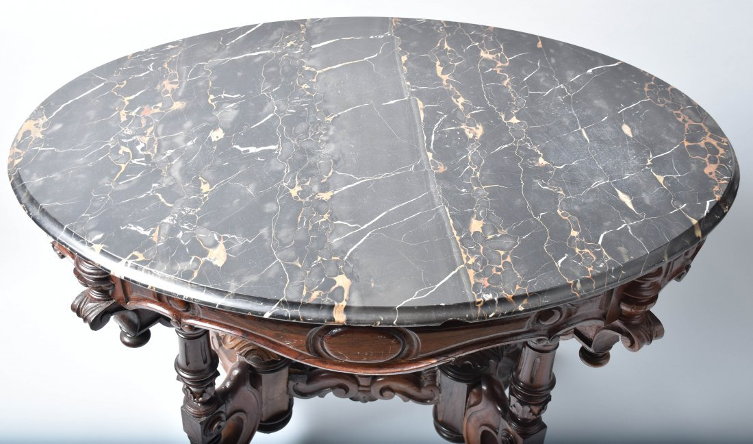 VICTORIAN ORNATE MARBLE TOP TABLE - 2
