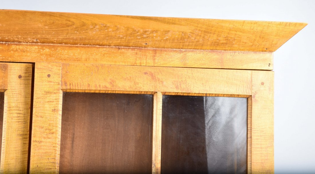 TIGER MAPLE CUPBOARD and MATCHING TABLE - 3