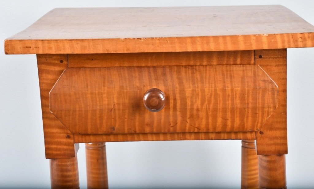 TIGER MAPLE ONE DRAWER STAND - 3