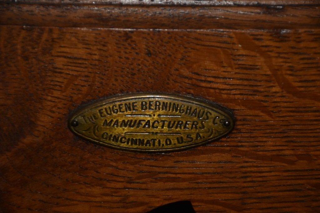 ANTIQUE BERINGHAUS HERCULES BARBER CHAIR - 3